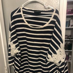 Lane Bryant blouse long sleeve striped